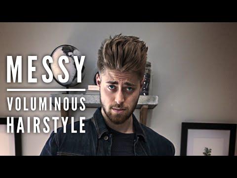 Messy Voluminous Hairstyle  Easy Mens Hairstyles, Hanz De Fuko