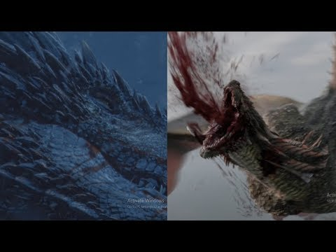 Rhaegal & Viserion Death Scenes   Both Dragons Death Scenes - Game of Thrones (FULL HD)
