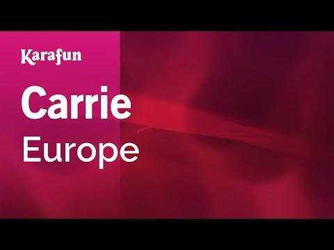 Carrie - Europe | Karaoke Version | KaraFun