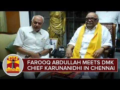Farooq Abdullah Meets DMK Chief Karunanidhi in Chennai News 09 02 2016 ThanthiTv Episode Online
