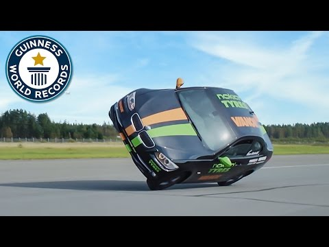 Fastest Side Wheelie In A Car