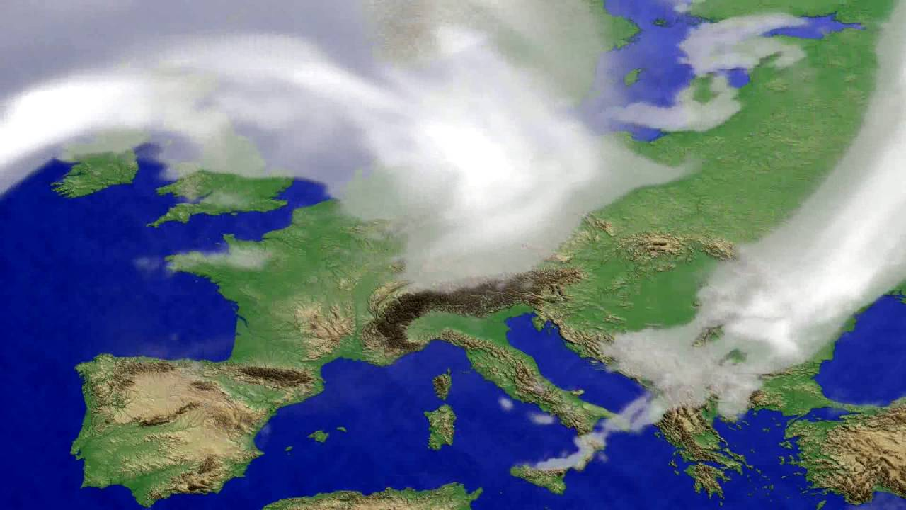 Cloud forecast Europe 2016-08-09