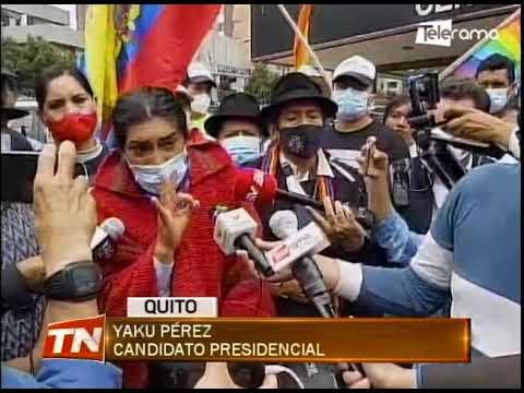 Simpatizantes de Yaku Pérez en vigilia por trámite de objeción a resultados electorales