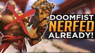 Overwatch has nerfed its new hero Doomfist already! After only a few days of PTR gameplay it seems blizzard are not happy with the distance of his fist and thought it best to nerf him! Let us know what you think and be sure to drop a Like & Subscribe if you enjoyed!Subscribe here - http://bit.ly/2aN1OuOWe are YOUR OVERWATCH:Destiny Channel: https://www.youtube.com/channel/UCb4Jomiox07xosU843EYTiwPatreon - https://www.patreon.com/YourOverwatchTwitter - https://twitter.com/youroverwatchytTwitch - https://www.twitch.tv/youroverwatch Discord Server:https://discordapp.com/invite/youroverwatchFREEDO's personal channel for Overwatch esports talk and more!https://www.youtube.com/user/xfreeedo