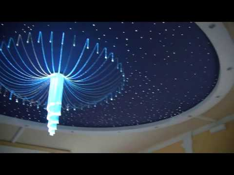 Żyrandole światłowodowe,