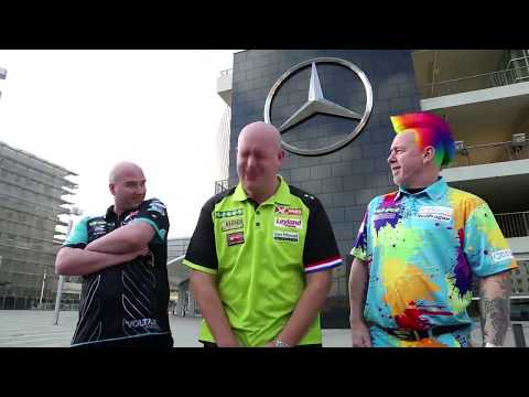 Premier League Darts Funny Advert Bloopers 😂 - Van Gerwen, Wright And Cross