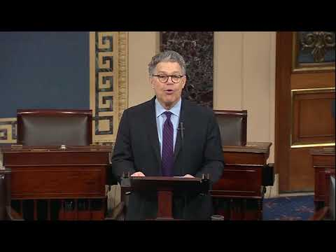 Al Franken resigns, takes a parting shot at President Trump