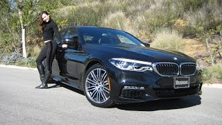 This is the 7th Generation 5 series from BMW. The 530i has 248 Horsepower with 258 foot pounds of torque. 0 to 60 MPH in 6 seconds. You get 19 inch M double spoke wheels style 664M with M Sport Package. The vehicle is longer & taller than the previous generation F10. Lighter, faster and more efficient. Follow Trish on Instagram at bmw_trisha. Revtime with Trish. BMW Review. Car Review.