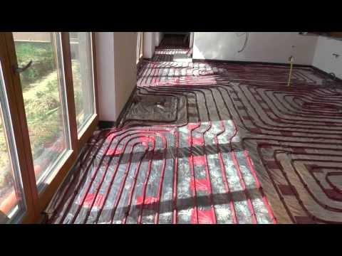 Bungalov - realizace podlahové topení Top heating