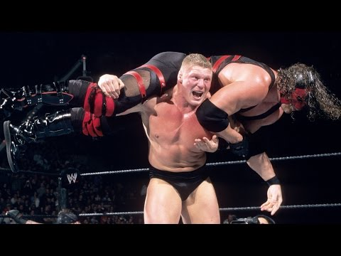 Brock Lesnar charges to the ring for his Royal Rumble Match debut: Royal Rumble 2003
