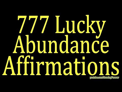 777 ★POWERFUL★ Abundance Affirmations - Wealth Prosperity Cash Law of Attraction Make Money