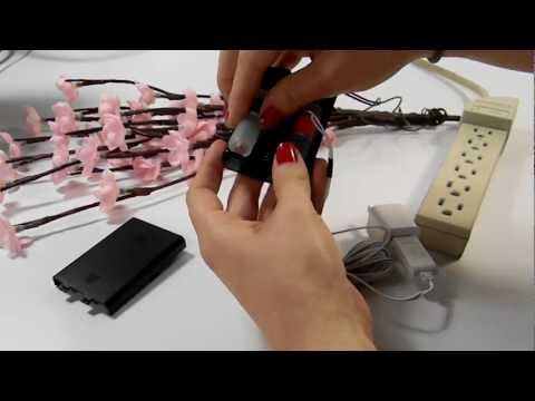Convert AA Battery Pack to AC Electric Plug In for Battery Operated Lights