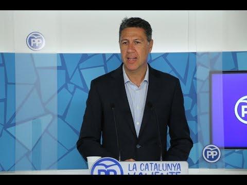 Rueda de prensa del presidente del PP Catalán, Xavi García Albiol