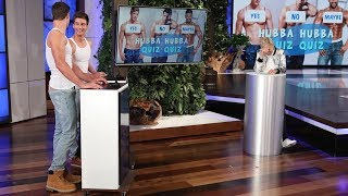 Video Ellen Tests Her Hunky Hotties in 'Hubba Hubba Quiz Quiz' MP3, 3GP, MP4, WEBM, AVI, FLV Desember 2018