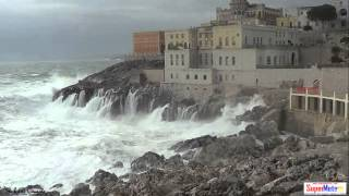 Santa Cesarea Terme Italy  city photos gallery : Sea Storm (mareggiata) in Santa Cesarea Terme (Lecce - Italy) 01/12/2013