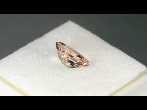 1.21CT GORGEOUS EMERALD ASSCHER CUT NATURAL PEACH MORGANITE