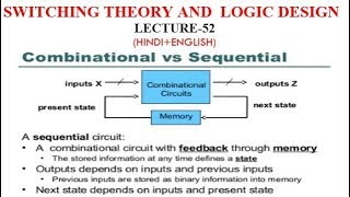COMBINATIONAL CIRCUIT VS SEQUENTIAL CIRCUIT-Lect-52
