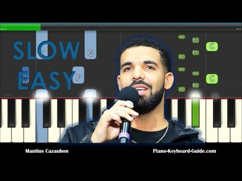 How to Play In My Feelings by Drake on Piano (Slow) - Keke Do You Love Me