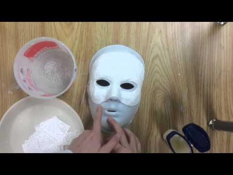 Tutoriel Comment Faire Un Masque En Bandelettes De Plâtre