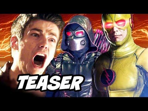 The Flash Season 4 Arrow Supergirl Crossover Teaser Trailer and Arrow 6x06
