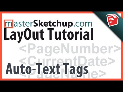 layout - http://www.mastersketchup.com/everything-you-need-to-know-about-sketchup-2014 - SketchUp Pro 2014 includes a great new feature for LayOut; Auto-text tags. Th...