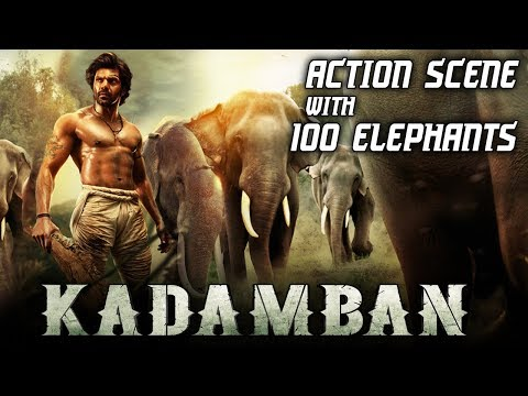 Kadamban Best Action Scene | 100 REAL ELEPHANTS | Best Action Scene Ever!