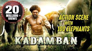 Kadamban Best Action Scene | 100 REAL ELEPHANTS | Best Action Scene Ever!