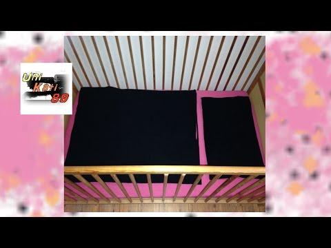 Spannbettlaken für Babybett Matratze nähen Bettlaken Baby Schnittmuster Anleitung #UniKati89