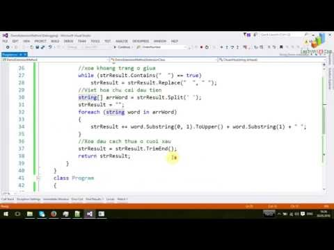 Extension method trong C#