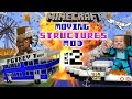 Minecraft Moving Structures Bus Boat Plane Movie Theate