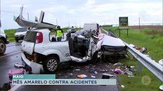 Maio amarelo: Em Marília campanha tenta prevenir acidentes de trânsito