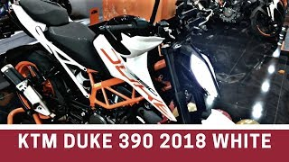 7. Launch Alert: KTM Duke 390 2018 edition WHITE COLOR | Walkaround and review| Whats new?