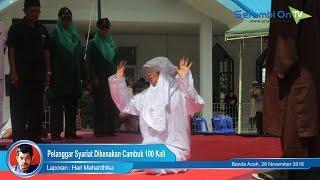 Pelanggar Syariat Dikenakan Cambuk 100 Kali