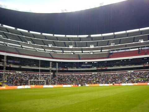 El estadio Azteca antes de un concierto