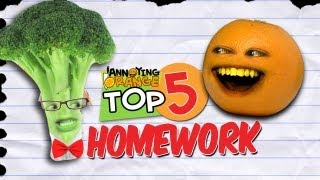 Annoying Orange - Top 5 Ways To Get Out Of Your Homework!