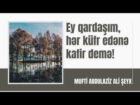 Şeyx Abdul-Aziz Ali Şeyx - Ey qardaşım, hər küfr edənə kafir demə!