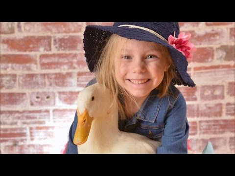 Meet An Adorable Little Girl And Her Ducky Best Friend