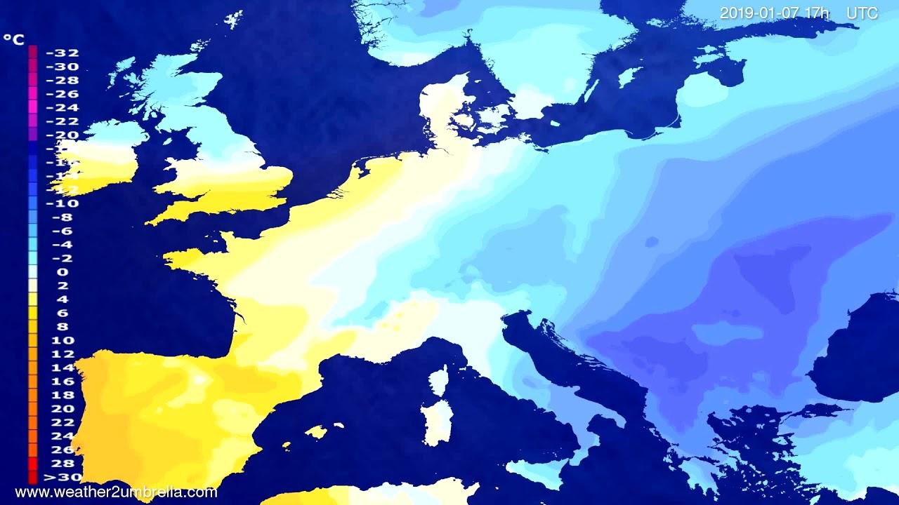 Temperature forecast Europe 2019-01-05