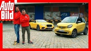 Der unmögliche Cabrio-Vergleich / Bentley vs. Smart / Test / Vergleich / 2016 by Auto Bild