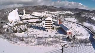 Ashibetsu Japan  City new picture : Ashibetsu, Hokkaido, Japan - drone flyover