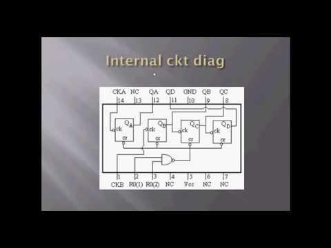 Mod 2,8,16 counter using IC 7493