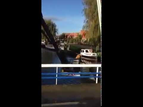 Groot onderhoud brug Makkum