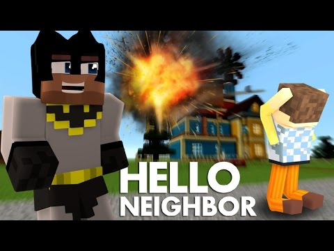 Minecraft Hello Neighbor: KILLING THE NEIGHBOR WITH A ROCKET! (видео)