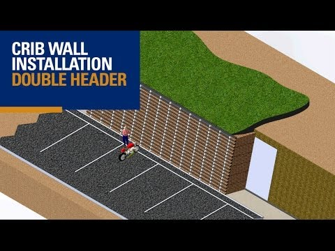 Double Header Crib Wall  (3D Animation)