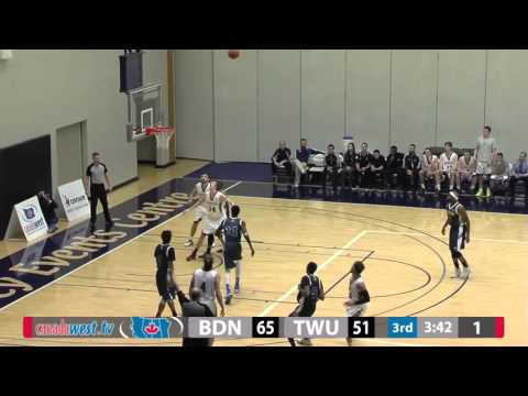 2016-01-29 TWU Men's Basketball Highlights vs Brandon