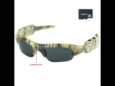 HD Camouflage Hunting Glasses Spy Camera HD Action Video Recorder (Model Number: GL1600)
