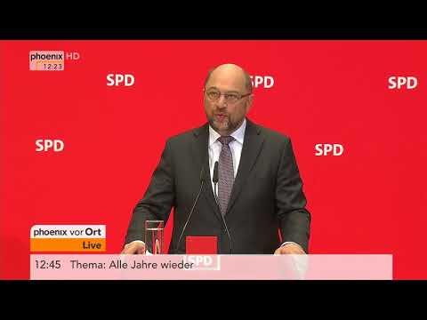 Statement von Martin Schulz zum Treffen mit BundesprГsident Steinmeier am 01.12.17