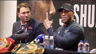 ANTHONY JOSHUA v TAKAM - POST FIGHT PRESS CONFERENCE