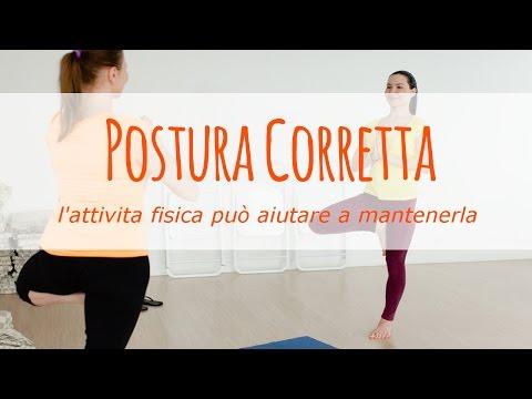 l'attività fisica può aiutare ad assumere una postura corretta?