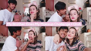 Video Beby Vlog #53 - My Brother Does My Makeup Challenge + QnA🤞🏻 MP3, 3GP, MP4, WEBM, AVI, FLV Januari 2019